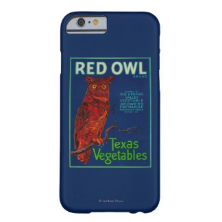 Red Owl Vegetable Label Barely There iPhone 6 Case