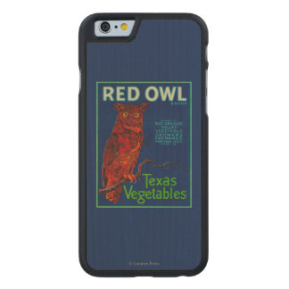 Red Owl Vegetable Label Carved® Maple iPhone 6 Case