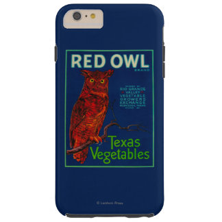 Red Owl Vegetable Label Tough iPhone 6 Plus Case