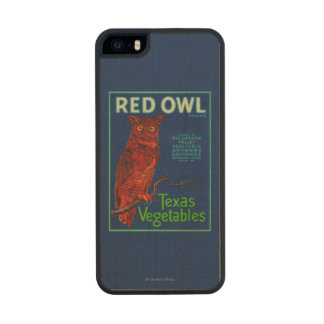 Red Owl Vegetable Label Wood iPhone SE/5/5s Case