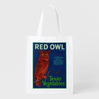 Red Owl Vegetable Label Grocery Bag