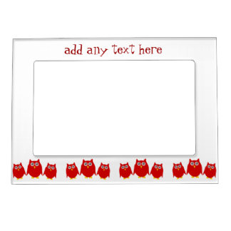 Red Owls Magnetic Picture Frames