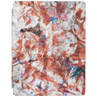 Red paint brush abstract modern digital art iPad cover