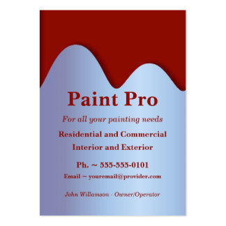 Red Paint Can Painting Business Cards