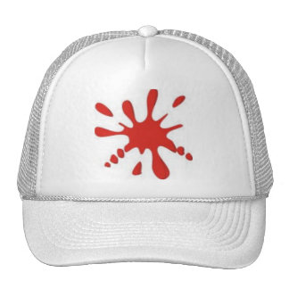 Red Paint Splatter Cap