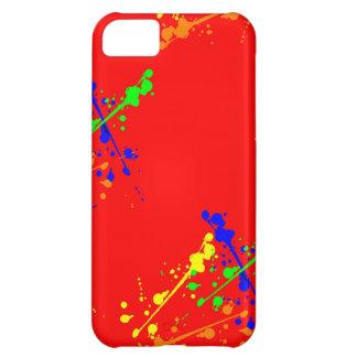 Red Paint Splatter Case iPhone 5C Cases