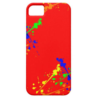 Red Paint Splatter Case iPhone 5 Covers