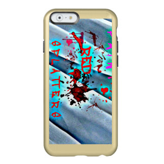 Red Paint Splatters Blood Drops Blue Waves Case Incipio Feather® Shine iPhone 6 Case