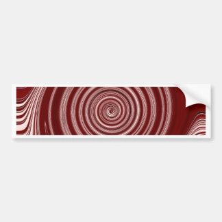 Red Paint Swirl Design Bumper Stickers