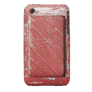 Red Painted Wooden Barn Door iPhone 3 Cases