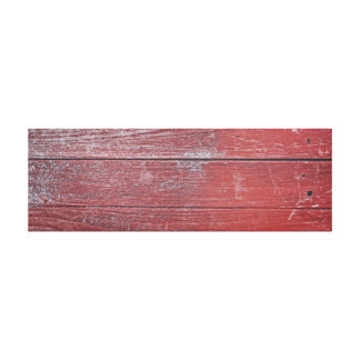 Red Painted Wooden Panel. Canvas Print