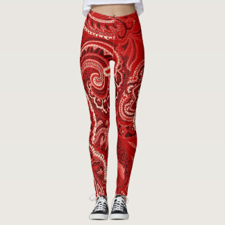 Red Paisley Bandanna Unique Retro Pants Custom