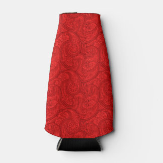 Red Paisley Bottle Cooler