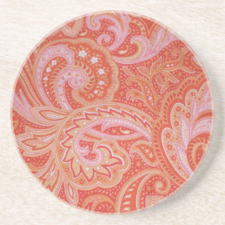 Red Paisley coaster