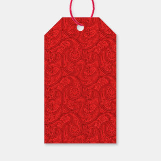 Red Paisley Gift Tags