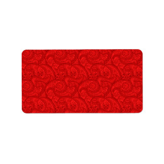 Red Paisley Label