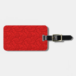 Red Paisley Luggage Tag