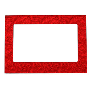Red Paisley Magnetic Picture Frame