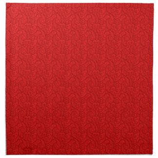 Red Paisley Napkin