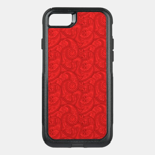 Red Paisley OtterBox Commuter iPhone 8/7 Case