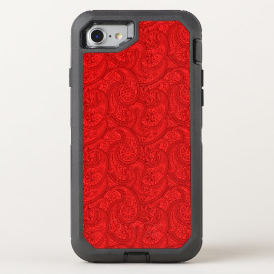 Red Paisley OtterBox Defender iPhone 8/7 Case
