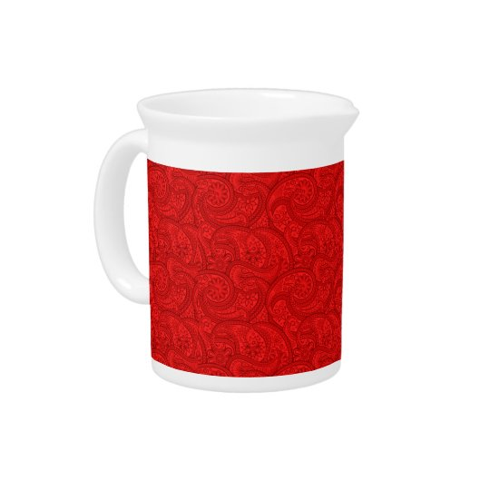 Red Paisley Pitcher