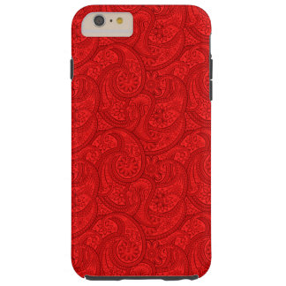 Red Paisley Tough iPhone 6 Plus Case