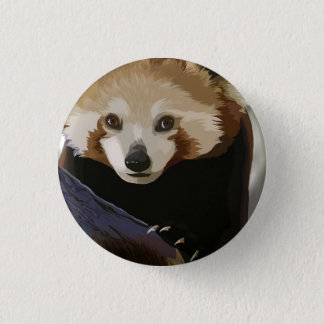 Red Panda 3 Cm Round Badge