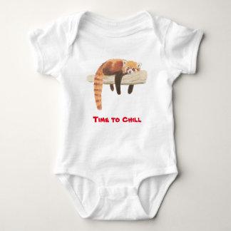 Red Panda baby vest Baby Bodysuit
