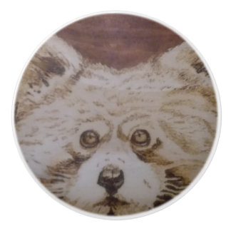 Red Panda Ceramic Knob