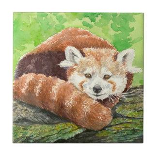 Red panda ceramic tile