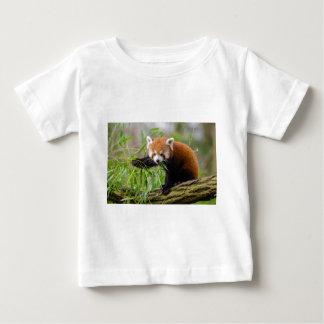 Red Panda Eating Green Leaf Baby T-Shirt