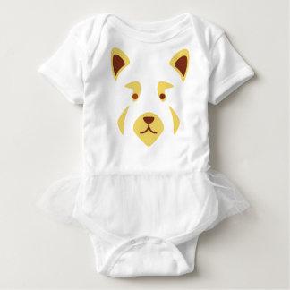 Red Panda Face Baby Bodysuit