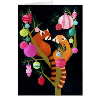 Red Panda Holiday Card