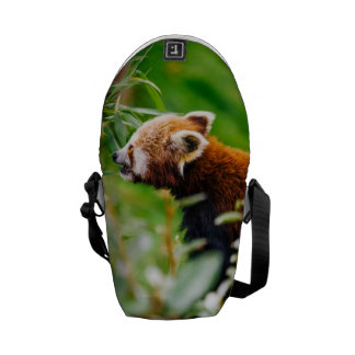 Red Panda In A Green Environment Courier Bags