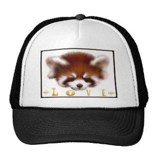 Red Panda Love Hat