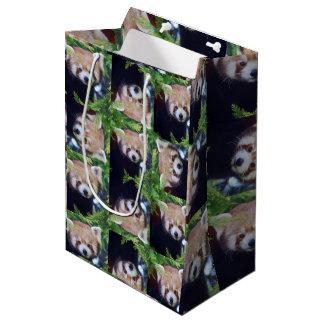 Red Panda Medium Gift Bag