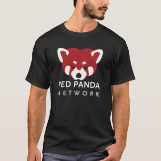 Red Panda Network Black T-Shirt
