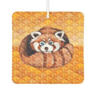 Red panda on orange Cubism Geomeric Car Air Freshener
