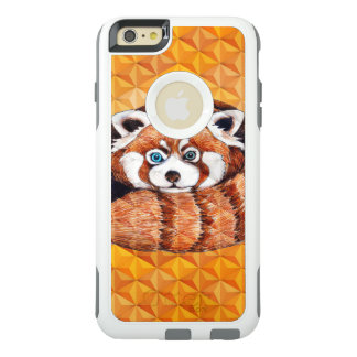 Red panda on orange Cubism Geomeric OtterBox iPhone 6/6s Plus Case