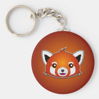 Red Panda (Orange Background) Key Ring