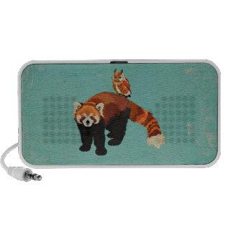 Red Panda & Owl Doodle Speaker