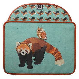 Red Panda & Owl Macbook Sleeve MacBook Pro Sleeves