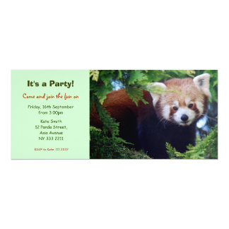 Red Panda Party Invitation