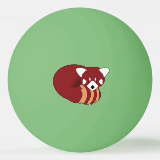 Red Panda Ping Pong Ball
