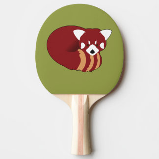 Red Panda Ping Pong Paddle