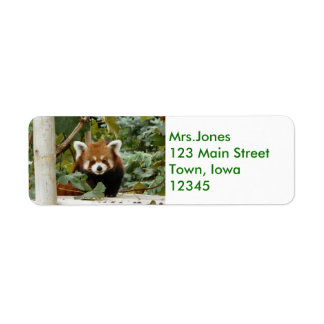 Red Panda Return Address Label