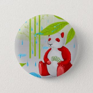 Red Panda Slinky 6 Cm Round Badge