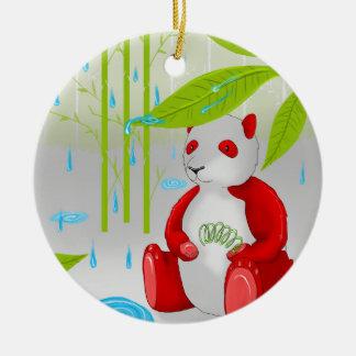 Red Panda Slinky Ceramic Ornament