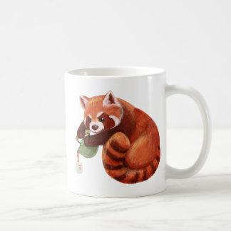 Red Panda Tea Time Basic White Mug